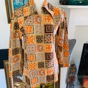 Vintage Now Patchwork Tunic With Zippers